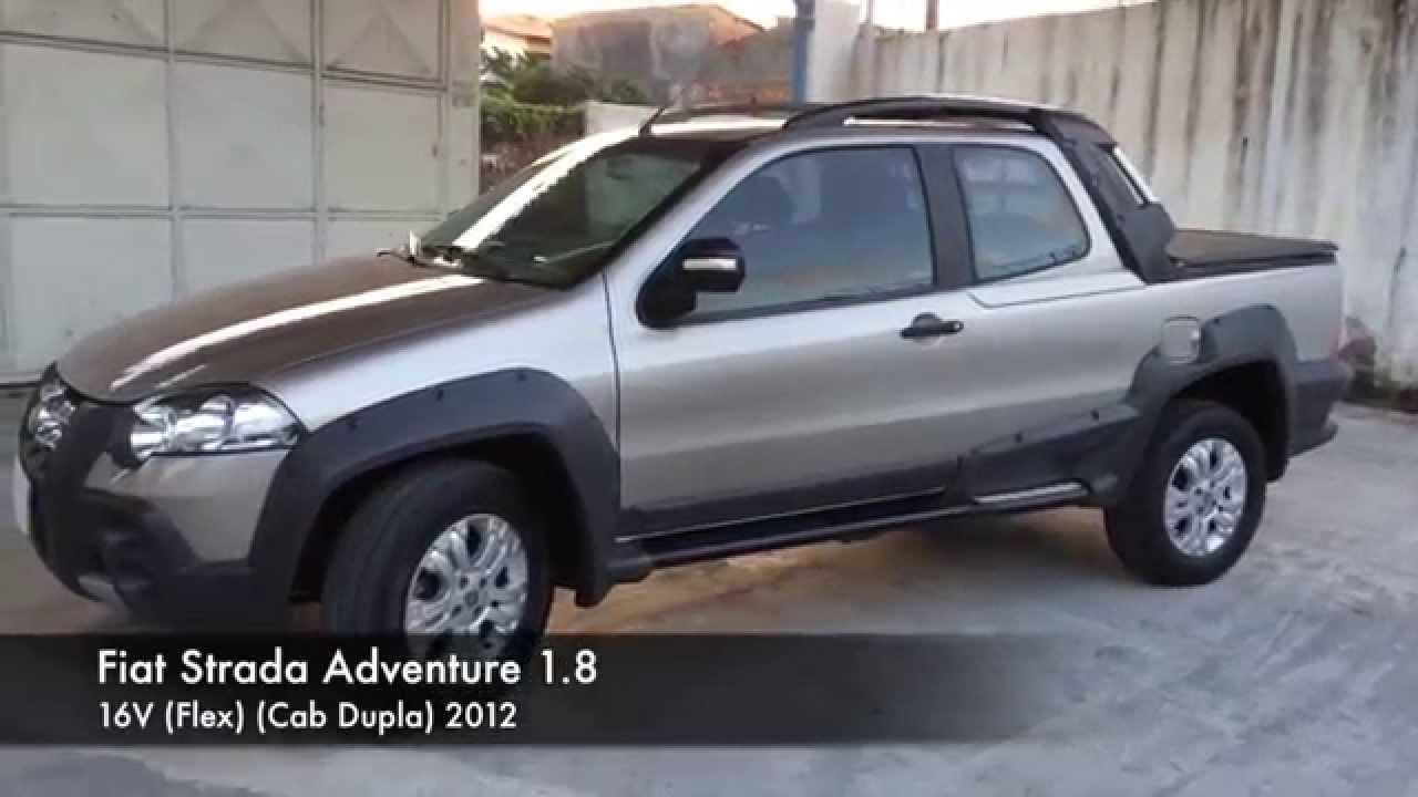 vendido fiat strada adventure 1.8 - youtube