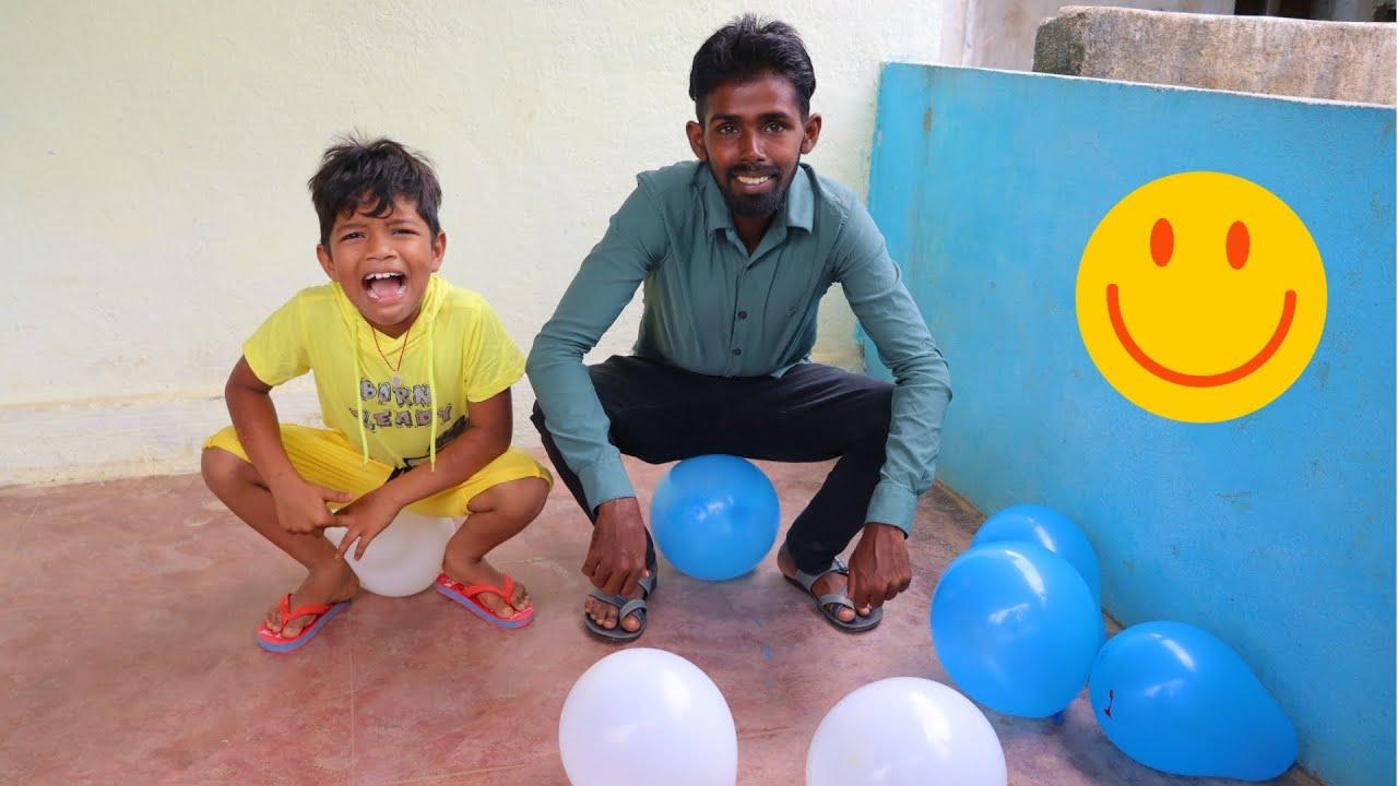 Balloon Challenge   Kannayya videos   Trends adda   Kannayya Vlogs
