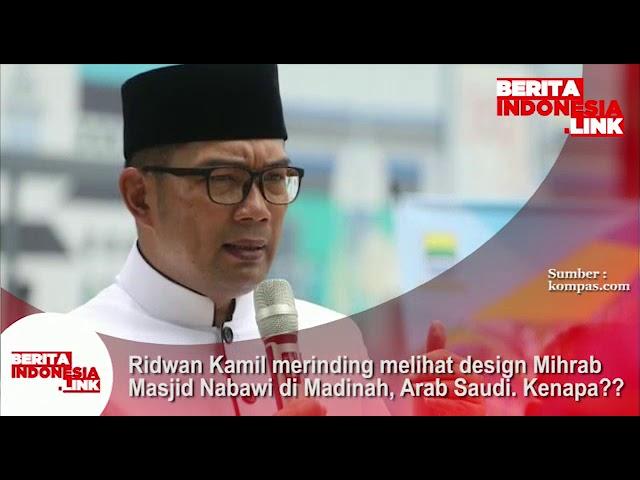 Ridwan Kamil merinding melihat design Mihrab Masjid Nabawi di Madinah, Arab Saudi. Kenapa??