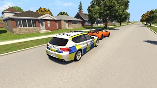 Residential Police Chase  - BeamNG.Drive Crashes