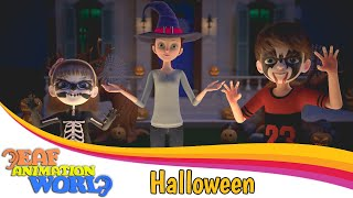 Halloween vocabularies in BSL | Educational animated videos | BSL for kids