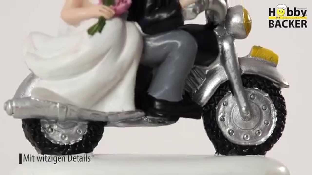 Hobbybacker Produktfilm Brautpaar Auf Motorrad Mit Weissen