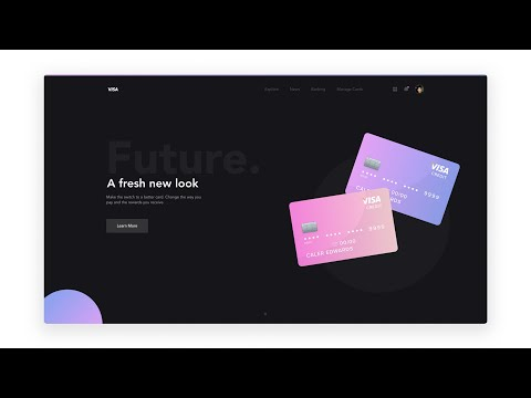 Web Design Tutorial with Adobe XD - Credit Card Landing Page thumbnail