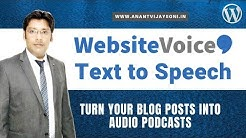 How to Turn Your Blog Posts into Audio Podcasts  - Text to Speech Plugin for WordPress - Hindi