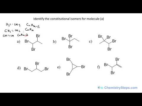 Constitutional or Structural Isomers with Practice Problems