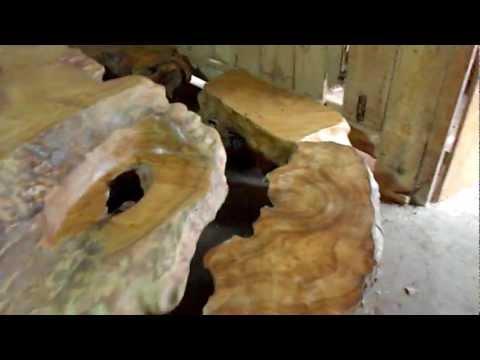 bàn ghế gốc cây Gù Hương, cây Trai