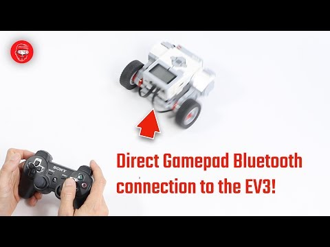 How to connect a PS3 Sixaxis gamepad to an EV3 brick via