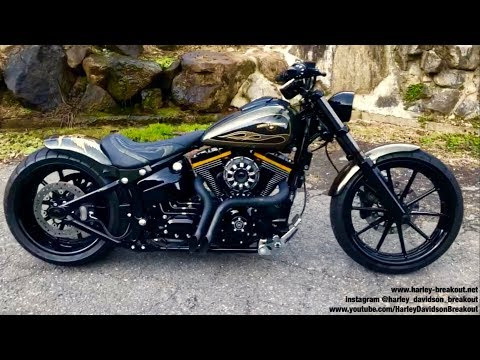 Harley-Davidson FXSB Breakout Custom Exhaust Sound 🇯🇵Akira from Japan🇯🇵