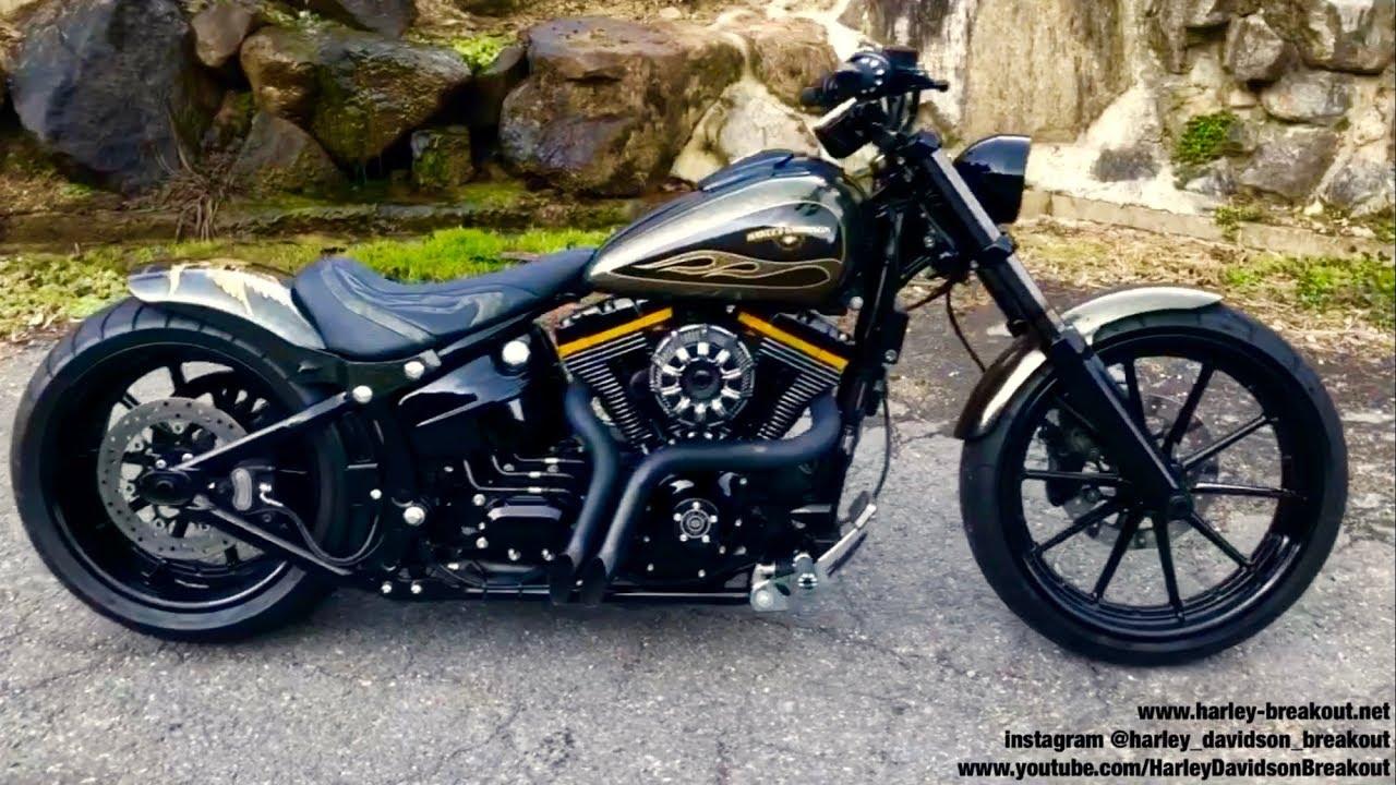 Harley-Davidson FXSB Breakout Custom Exhaust Sound 🇯🇵Akira from Japan🇯🇵