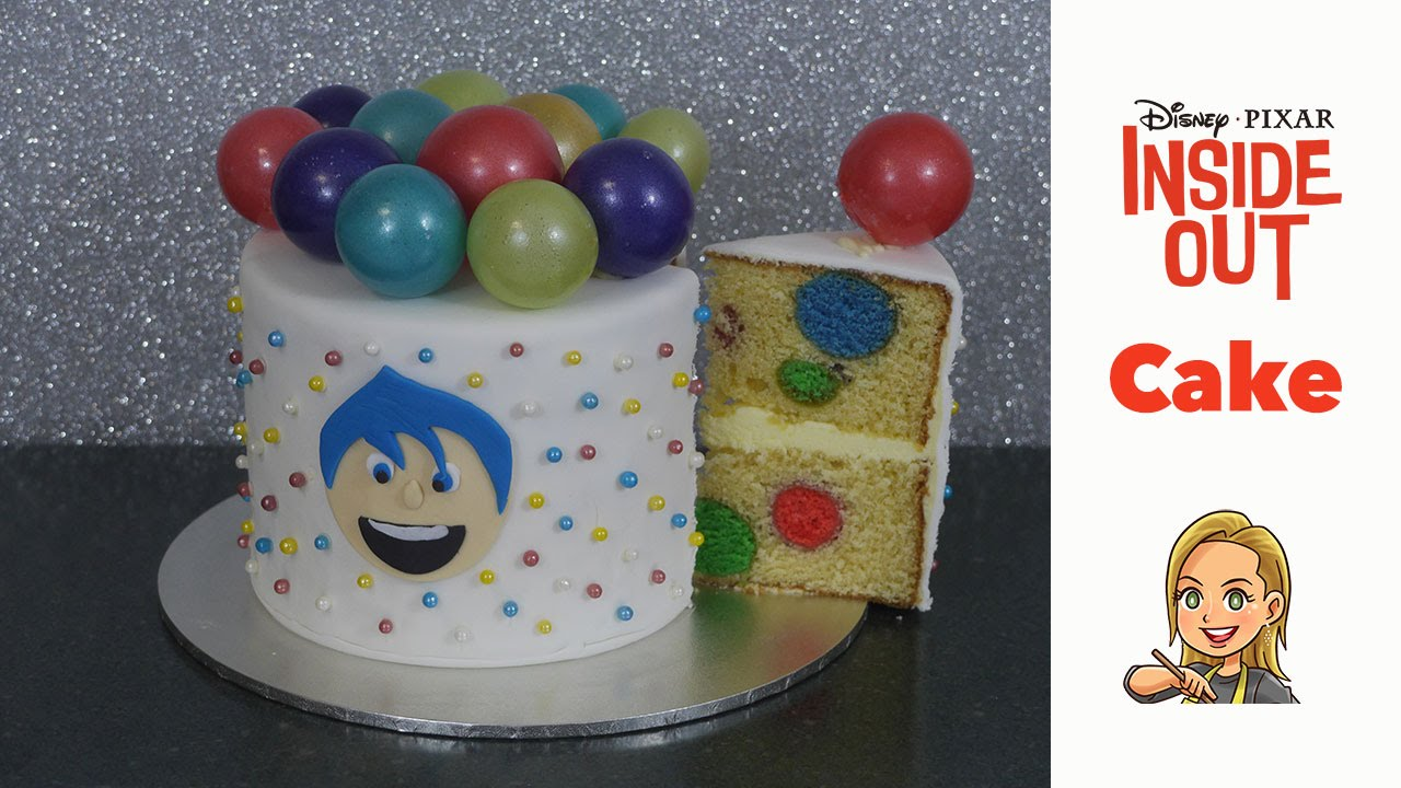 Inside Out Cake - with Gelatin Bubbles & a Surprise Inside - YouTube