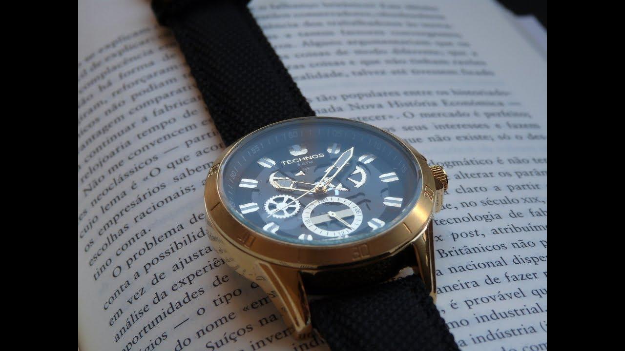 6db2cddeb6d Relógio Technos 6P79BB 8P Edição Limitada Time de Heróis Rogério Sampaio