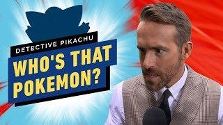 Pokémon Detective Pikachu Cast Play 'Who's That Pokemon?'