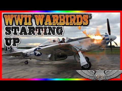 World War II Warplanes Starting and Sound Compilation | Awesome Sound!