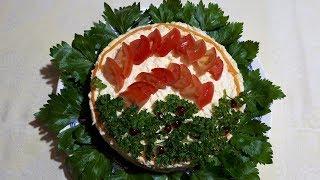 Изумительно вкусный салат «ПОЧЕТНЫМ ГОСТЯМ». Красивый, яркий салат прекрасно подойдет к любому столу