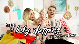 $100 BABY SHOPPING CHALLENGE! Husband vs Wife Again! | Aspyn Ovard