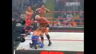 Chris Benoit, Chris Jericho & Edge vs Evolution (Raw, 14 June 2004)