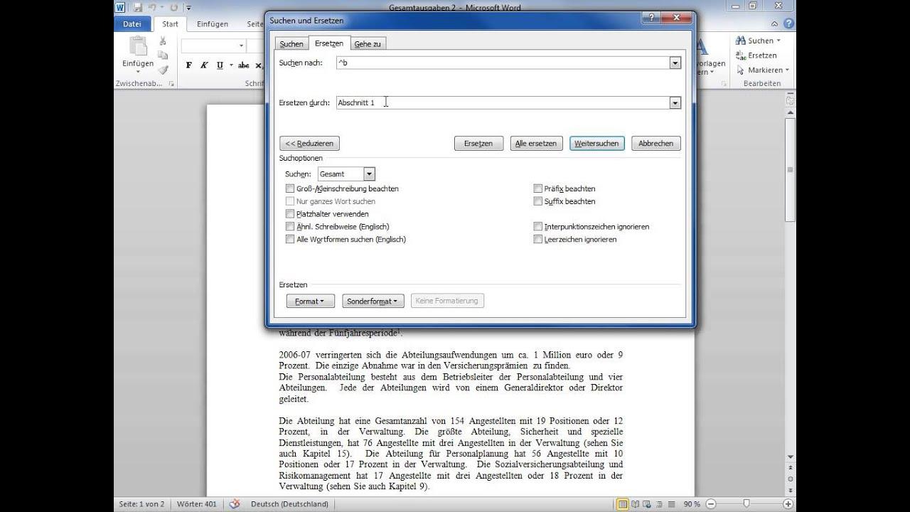 Microsoft Word 2010 Absatzmarken Seitenumbruche Und Andere