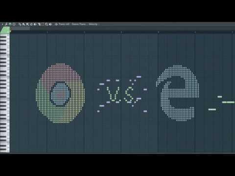 Chrome vs Internet Explorer - MIDI Art