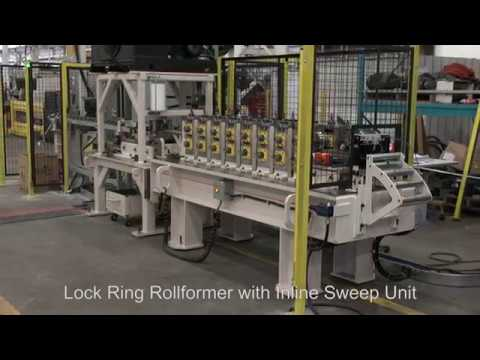 Lock Ring Rollformer with Inline Sweep Unit