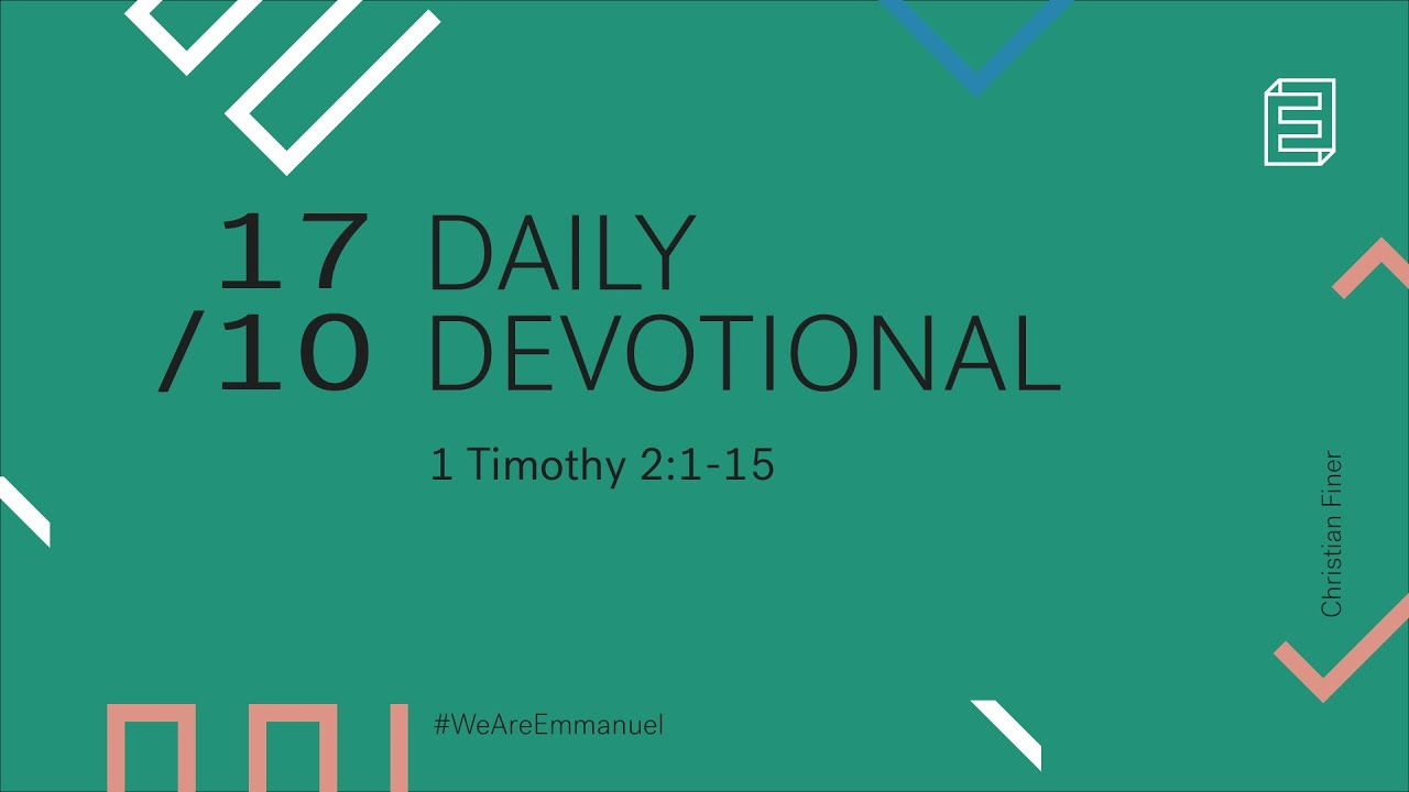 Daily Devotional with Christian Finer // 1 Timothy 2:1-15 Cover Image