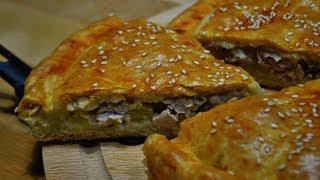 Закусочный ПИРОГ с Индейкой и Картофелем (Вкусно и Сытно!!!)