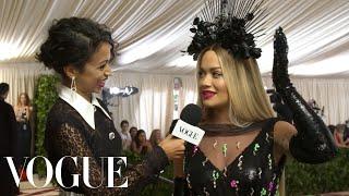 Rita Ora on Almost Knocking Off Her Headpiece Before the Met Gala | Met Gala 2018 With Liza Koshy