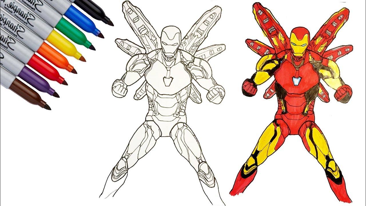 Iron Man Mark 85 Iron Man Endgame Coloring Pages Sailany