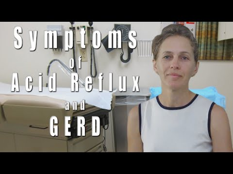Acid reflux and GERD. Symptoms.