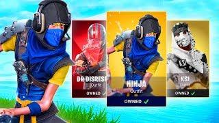 NOUVEAU CUSTOM FORTNITE YOUTUBER SKINS! ( Ninja - KSI - Dr Disrespect )