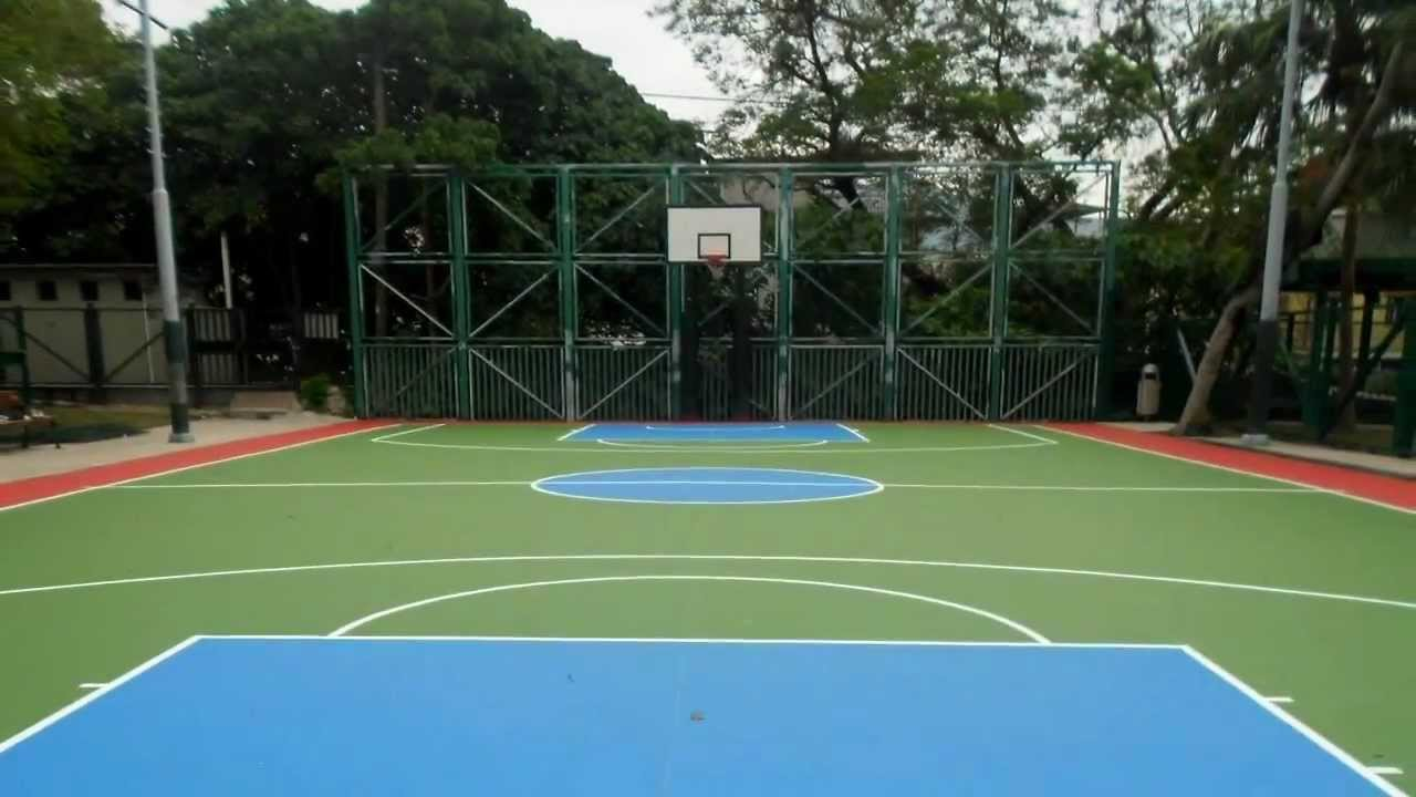 Acrylic Sports Court Floor Coating Rc Substrate 壓克力球場材系統