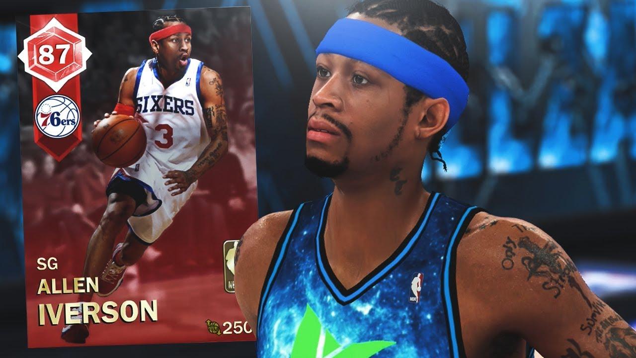 size 40 dda65 93fa5 RUBY ALLEN IVERSON GAMEPLAY!! NEW THROWBACK CARD! (NBA 2K18 MYTEAM)