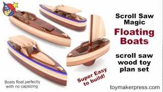 Wood Toy Plans - Scroll Saw Magic Speed Boats