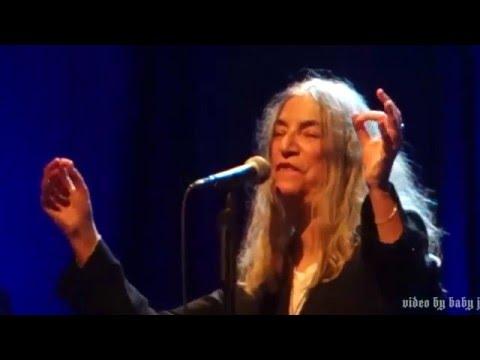 Patti Smith-KIMBERLY-Live @ The Fillmore, San Francisco, CA, December 30, 2015-69th Birthday-Horses