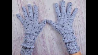 Как связать спицами перчатки | По мотивам Максимовой | Часть 1