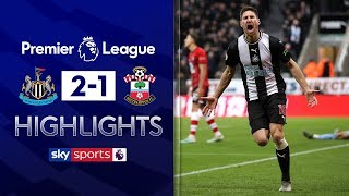 Late Fernandez goal nicks win for Magpies | Newcastle 2-1 Southampton | Premier League Highlights
