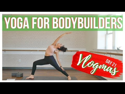 25 Min. Yoga For Bodybuilders, Weightlifters & Olympic Lifters || VLOGMAS 21, 2017