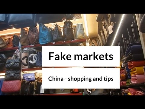 Fake market Qingdao, China - shopping and haggling tips