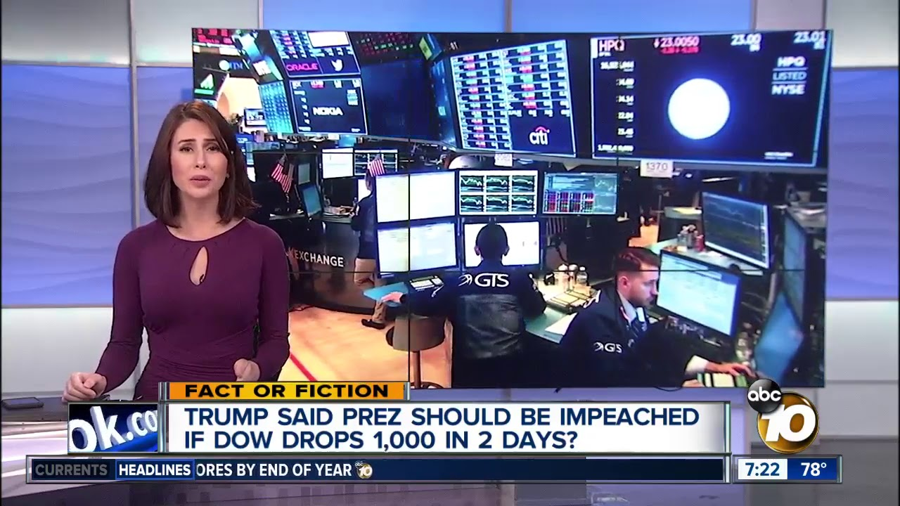 Trump called for impeachment when Dow dropped? - YouTube