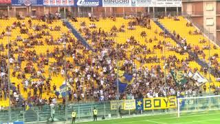 Coppa Italia, Parma-Pisa, inno Forza Parma, Curva Nord