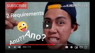 2 YouTube requirements to monetize your channel (1st vlog)