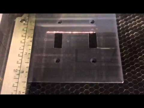 Laser Engravingmarking Light Switch Cover Youtube