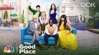 Ted danson, kristen bell, jameela jamil, d'arcy carden, manny jacinto and william jackson harper give you a first look at the fourth final season of ...