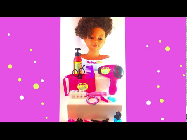 Curly Styling Doll with 19 Toy Salon Accessories