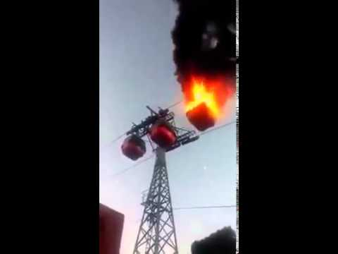 Fire Accident in cable car