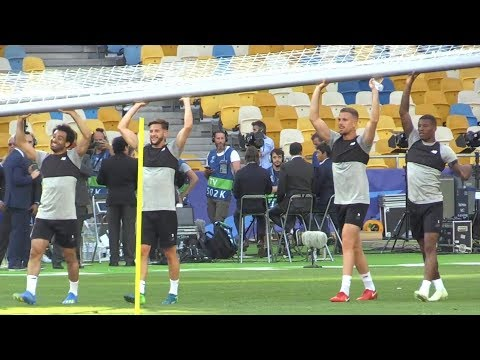Liverpool Train At The Olympic Stadium, Kiev Ahead Of Champions League Final v Real Madrid