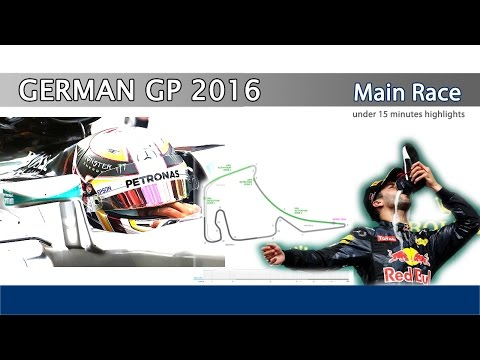 F1 German GP 2016 - Main Race Highlights in 15 minutes