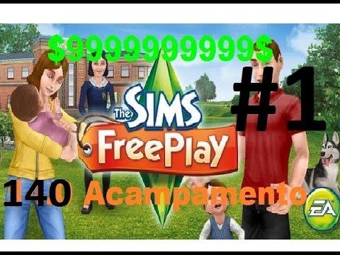 sims free play com dinheiro infinito