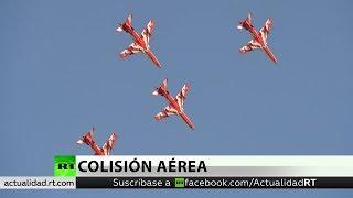 India: Dos aviones se estrellan durante la práctica de un espectáculo aéreo