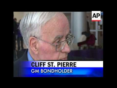 A group of individuals who rely on General Motors bonds to pay their living expenses and other costs