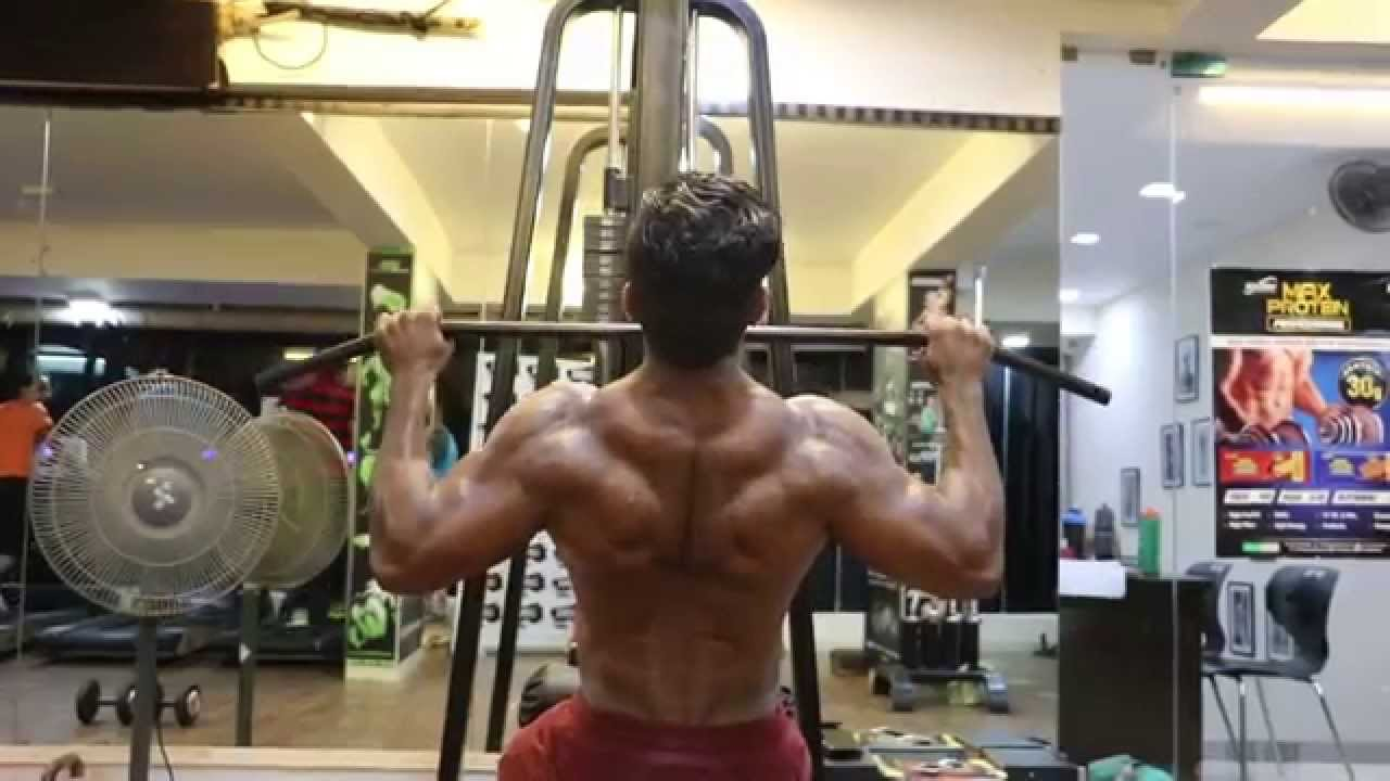 Indian Fitness Model Siddhant Jaiswal Back Workout At Lynx Gym